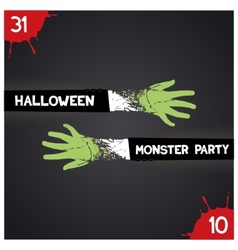 Halloween monster party vector