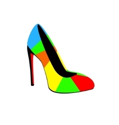 High-heeled colorful shoes vector