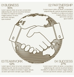 Business infographics handshake vector