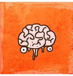 Brain cartoon vector
