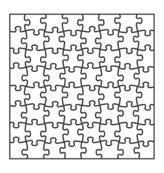 Igsaw puzzle blank template vector