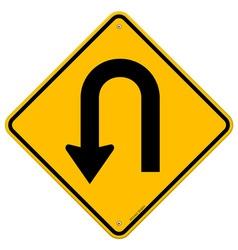 U-Turn Roadsign vector image