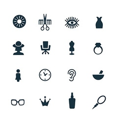 beauty salon icons set vector image vector image