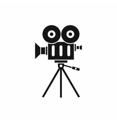 Camcorder icon simple style vector