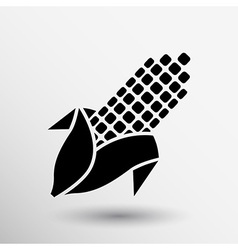 Corn logo abstract icon ear unusual isolated vector