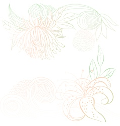 decorative background with stylized floral element vector image vector image