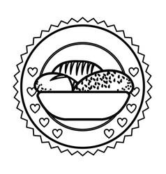 Emblem breads symbol icon vector