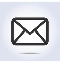 envelope icon gray colors vector image vector image