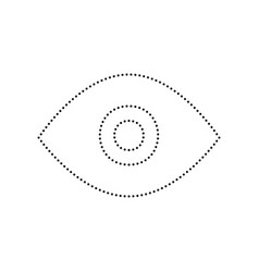 Eye sign black dotted icon vector