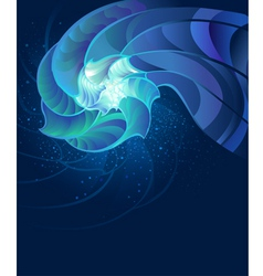Fantastic seashell vector