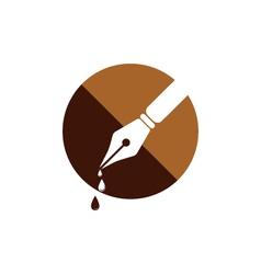 Feather pen Logo vector image vector image