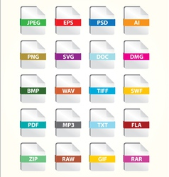 File icon set vector
