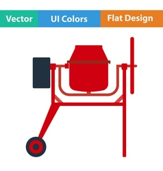 Flat design icon of concrete mixer vector
