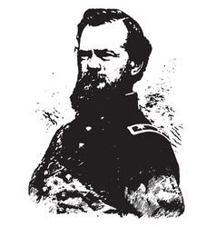 General james b mcpherson vintage vector