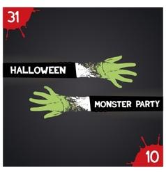 Halloween monster party vector image
