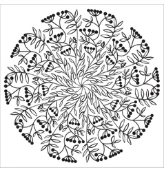 Hand drawing floral mandala zentangle element vector image