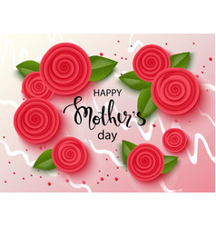 happy mothers day background with beautiful vector image vector image