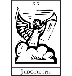 Judgment Tarot Card vector image