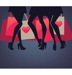 legs and bags vector image