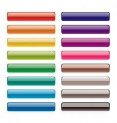 long buttons vector image