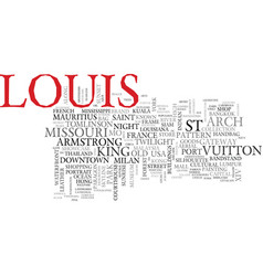 Louis word cloud concept vector
