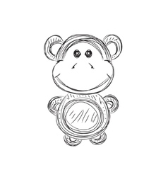 Monkey sketch vector