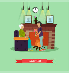 mother concept in flat style vector image