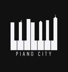 Piano city vector