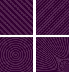 Purple simple striped pattern set vector