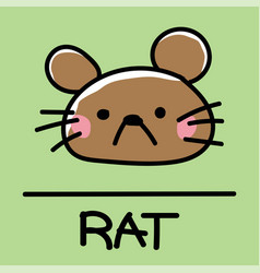 Rat hand-drawn style vector