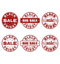 Set of black friday stamps vector