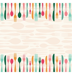 Silverware seamless pattern vector image