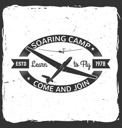 Soaring camp retro badge vector