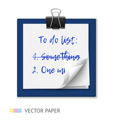 to do list on a notepad paper vector image