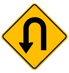 U-turn roadsign vector