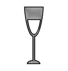 wine cup isolated icon vector image