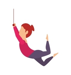 Woman juggler cartoon vector