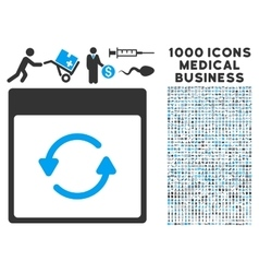 Update calendar page icon with 1000 medical vector