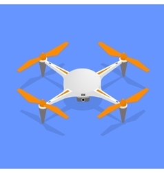 Drone isometric view vector