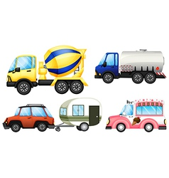 A set of cars vector image