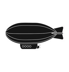 airship air transport for traveltransport single vector image