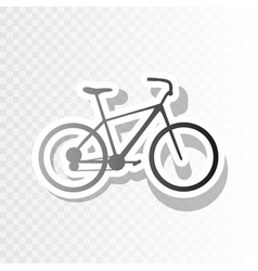 Bicycle bike sign  new year blackish icon vector