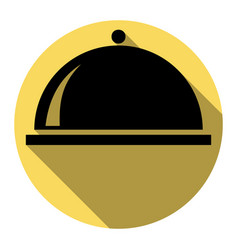 server sign flat black icon vector image