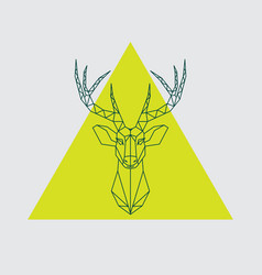 Geometrical head reindeer vector