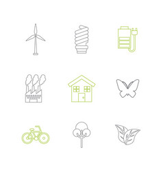 Sustainability and ecology design vector