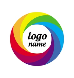 Logo multicolored circle in motion vector