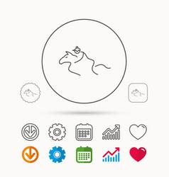 Horseback riding icon jockey rider sign vector