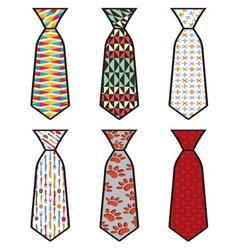 Kolekcija kravate vector image
