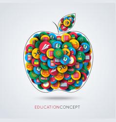 Education icon apple composition vector
