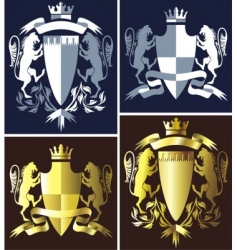 Coat of arms heraldry vector